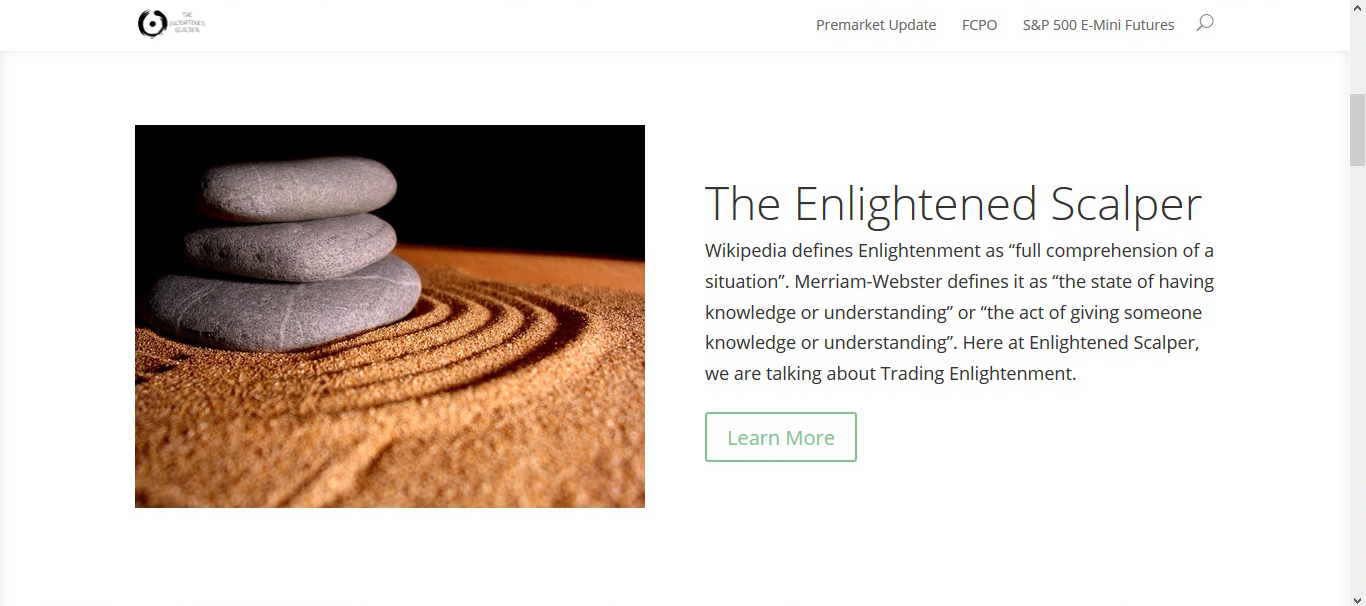 Enlightened Scalper Website developed by The Ultimate Webmaster Malaysia