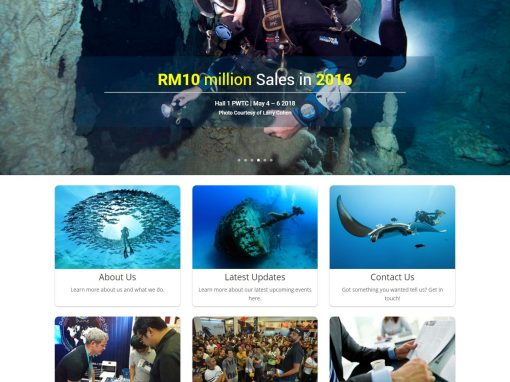 Malaysian International Dive Expo Revamped Website